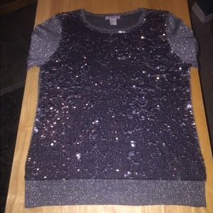 H&M Sequined Charcoal Seater